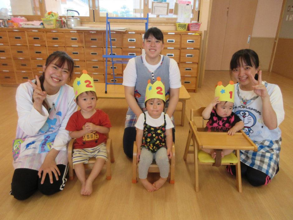 6月お誕生会 保育園部さんのお誕生会(*^▽^*)みんなおめでとう☆彡