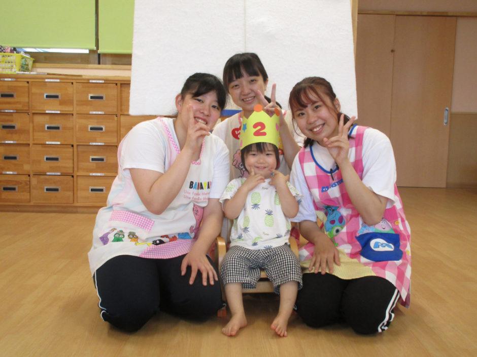 7.8月お誕生会 あひるさんは1名のお友達です(*^▽^*)