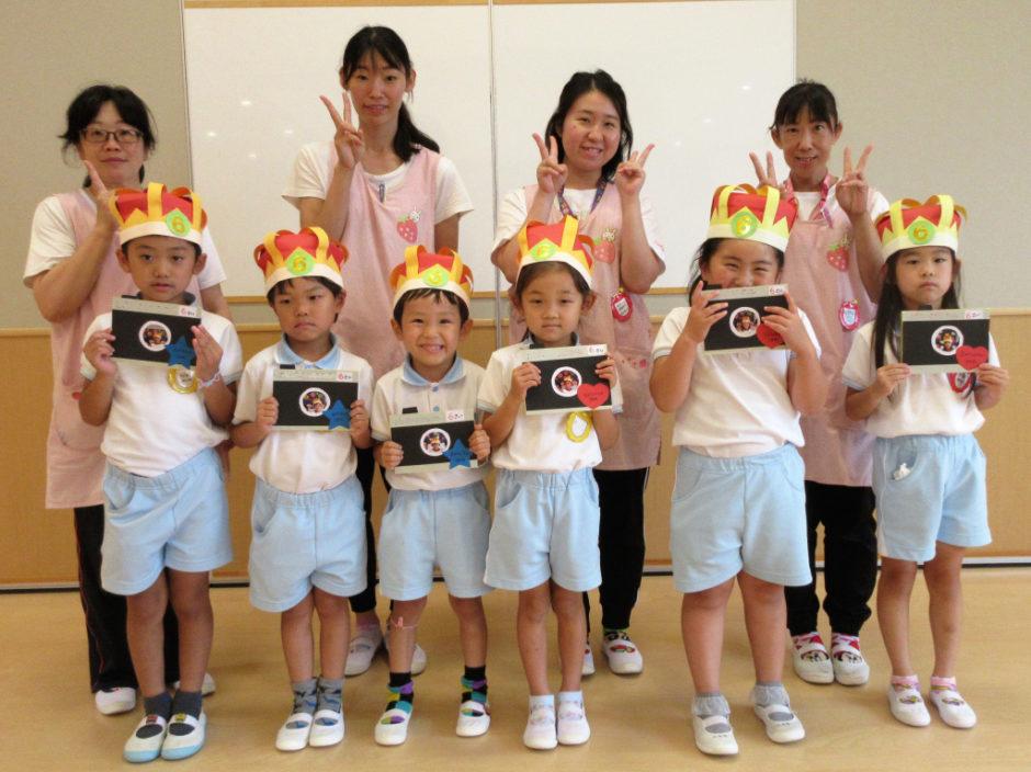 7.8月お誕生会 8月生まれも6名のお友達です(^^♪