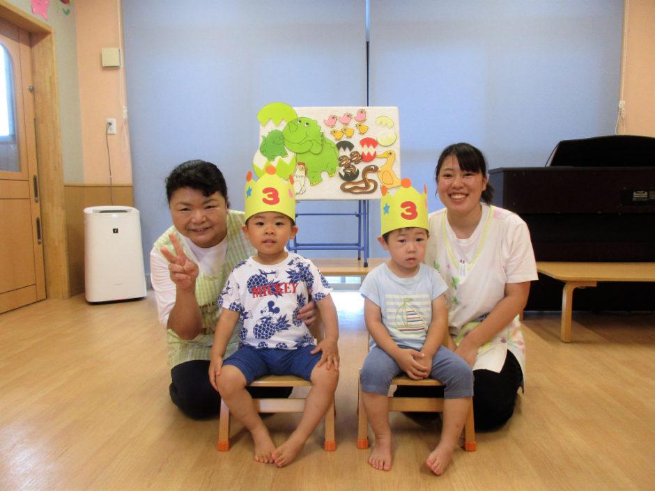 8月 保育園部お誕生会 ひばりぐみさん☆彡 おめでとうございます(≧▽≦)