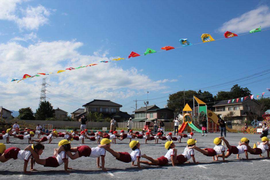 10月2日 運動会 年長ぐみ 気温も上がり暑い中、一生懸命な姿がとても素敵でした(^^♪