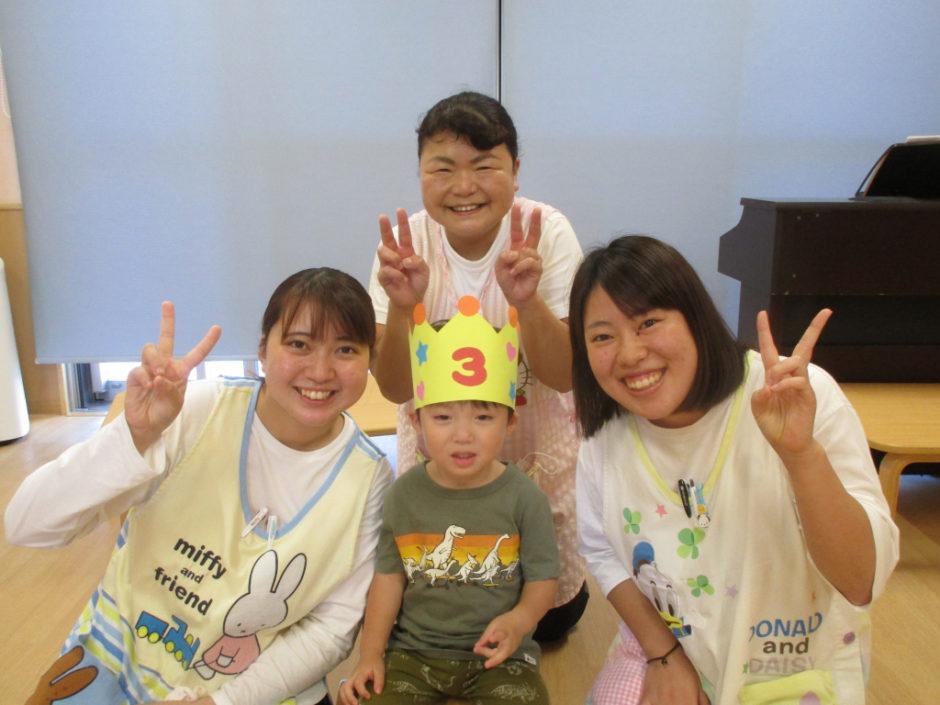 10月 お誕生会 ひばり組さんは1名のお友達です!(^^)!