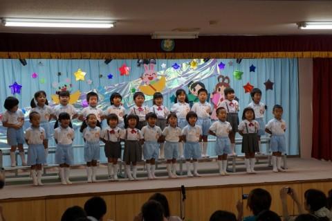 七夕お楽しみ会(平成26年度 午後の部) 園児代表による 『うみ』