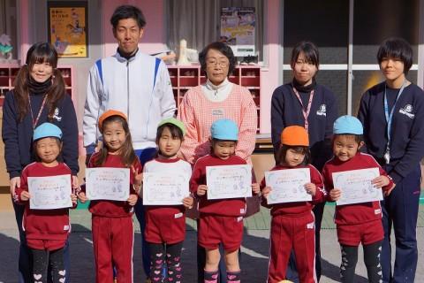 2015.1 マラソン大会 ゆり女の子表彰式