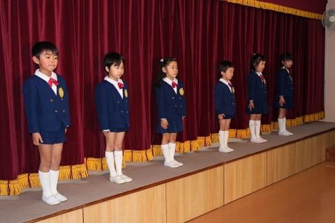 2015.2  ひな祭りおゆうぎ会(午後の部) 園児あいさつ