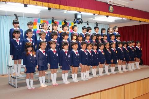 2015.2  ひな祭りおゆうぎ会(午後の部) 園歌(きく1・きく3)