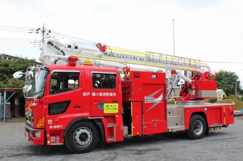防火講習 H25 年に一度の「防火講習」!はしご車も幼稚園に来ました・・・。