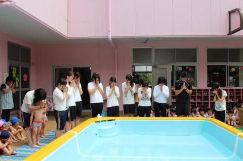 プール開き 楽しい水遊びやプールができますように・・・