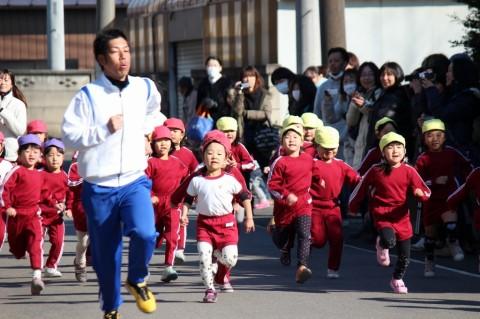 マラソン大会(2) きくぐみ 女の子 スタート!!