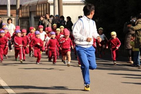マラソン大会(2) きくぐみ 男の子 スタート!!