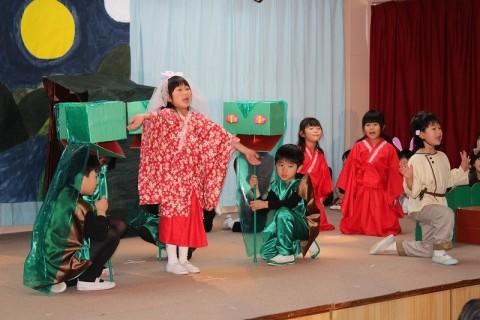 2015.2  ひな祭りおゆうぎ会(午前の部) きく2 ことば劇「スサノオの冒険」