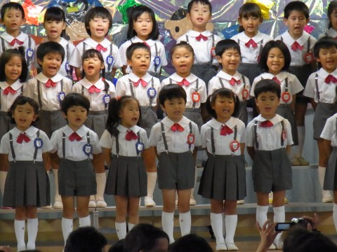 七夕おたのしみ会(午後の部) 園児代表(きく2・3) うた「たなばた」