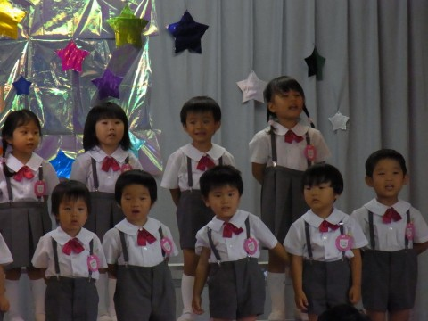 七夕おたのしみ会(午後の部) おうちのかたに見てもらうのをとても楽しみにしていました