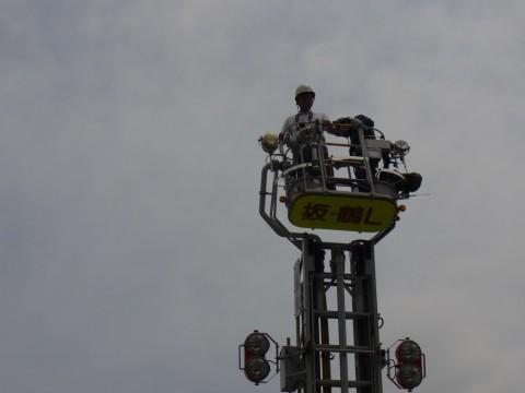 防火講習 H24 はしごの上にいるのはだーれ・・・???
